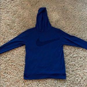 Boys Nike dri fit t shirt with hood